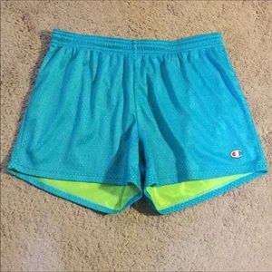 bright blue champion shorts